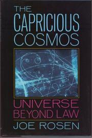THE CAPRICIOUS COSMOS by Joe Rosen