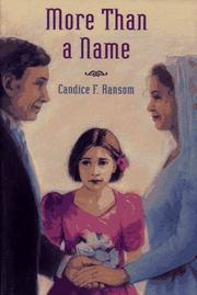 MORE THAN A NAME by Candice F. Ransom
