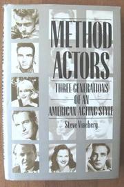 METHOD ACTORS by Steve Vineberg
