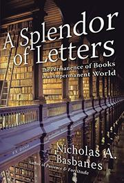 Cover art for A SPLENDOR OF LETTERS