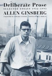 DELIBERATE PROSE by Allen Ginsberg
