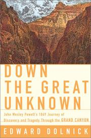 Cover art for DOWN THE GREAT UNKNOWN