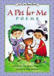 A PET FOR ME by Lee Bennett Hopkins