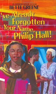 Cover art for I'VE ALREADY FORGOTTEN YOUR NAME, PHILIP HALL!