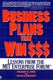 BUSINESS PLANS THAT WIN $$$: Lessons from the MIT Enterprise Forum by Stanley R. & David Gumpert Rich