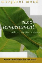 SEX AND TEMPERAMENT by Margaret Mead