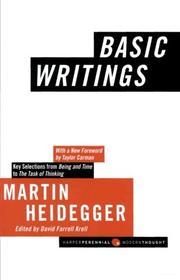 BASIC WRITINGS by Martin Heidegger