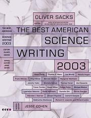 THE BEST AMERICAN SCIENCE WRITING 2003 by Oliver Sacks