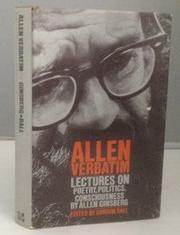 Book Cover for ALLEN VERBATIM