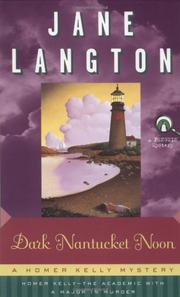 DARK NANTUCKET NOON by Jane Langton