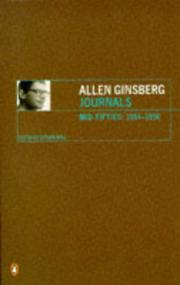JOURNALS MID-FIFTIES (1954-1958) by Allen Ginsberg