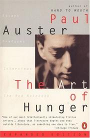THE ART OF HUNGER by Paul Auster