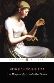 THE MARQUISE OF O---- And Other Stories by Heinrich von Kleist