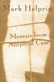 Book Cover for MEMOIR FROM ANTPROOF CASE