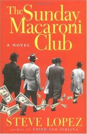 Book Cover for THE SUNDAY MACARONI CLUB