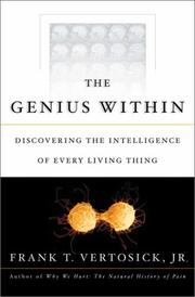 THE GENIUS WITHIN by Frank T. Vertosick