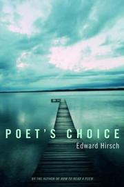 POET'S CHOICE by Edward Hirsch