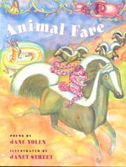 ANIMAL FARE by Jane Yolen