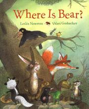 WHERE IS BEAR? by Lesléa Newman