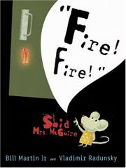 "Book Cover for ""FIRE! FIRE!"" SAID MRS. MCGUIRE"