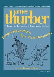 PEOPLE HAVE MORE FUN THAN ANYBODY by James Thurber