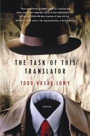 THE TASK OF THIS TRANSLATOR by Todd Hasak-Lowy