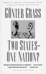 TWO STATES, ONE NATION? by Günter Grass
