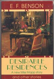 DESIRABLE RESIDENCES by E.F. Benson