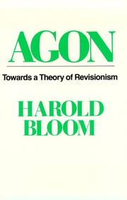 AGON by Harold Bloom