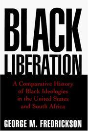 BLACK LIBERATION by George M. Fredrickson