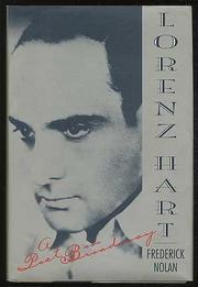 LORENZ HART by Frederick Nolan