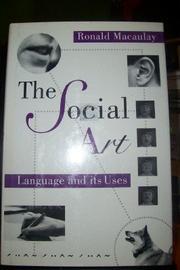 THE SOCIAL ART by Ronald Macaulay