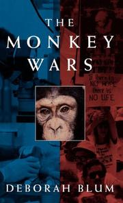 Cover art for THE MONKEY WARS
