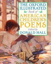 THE OXFORD ILLUSTRATED BOOK OF AMERICAN CHILDREN'S POEMS by Donald Hall