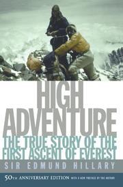 HIGH ADVENTURE by Edmund Hillary