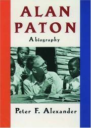 ALAN PATON by Peter F. Alexander