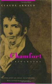 CHAMFORT by Claude Arnaud
