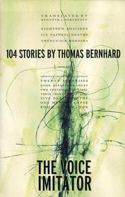 THE VOICE IMITATOR by Thomas Bernhard