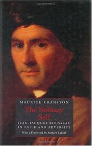 THE SOLITARY SELF by Maurice Cranston