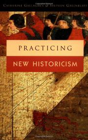 Book Cover for PRACTICING NEW HISTORICISM