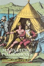 MARVELOUS POSSESSIONS: The Wonder of the New World by Stephen Greenblatt