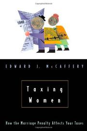 TAXING WOMEN by Edward J. McCaffery