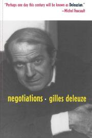 """""""NEGOTIATIONS, 1972-1990"""" by Gilles Deleuze"""
