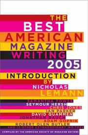THE BEST AMERICAN MAGAZINE WRITING 2005 by American Society of Magazine Editors