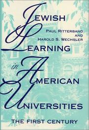 JEWISH LEARNING IN AMERICAN UNIVERSITIES by Paul Ritterband