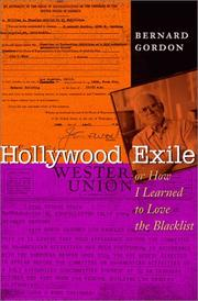HOLLYWOOD EXILE by Bernard Gordon