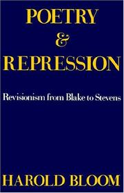 POETRY AND REPRESSION by Harold Bloom