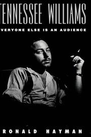 TENNESSEE WILLIAMS by Ronald Hayman
