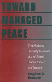 TOWARD MANAGED PEACE by Eugene V. Rostow