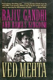 RAJIV GANDHI AND RAMA'S KINGDOM by Ved Mehta